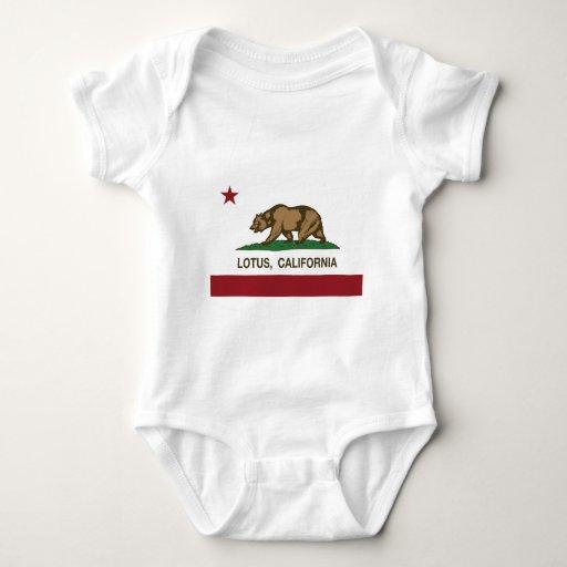 Bandera del estado de Lotus California Camisas