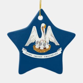 Bandera del estado de Luisiana Ornamentos Para Reyes Magos