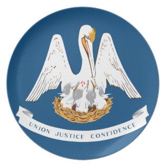Bandera del estado de Luisiana Platos Para Fiestas