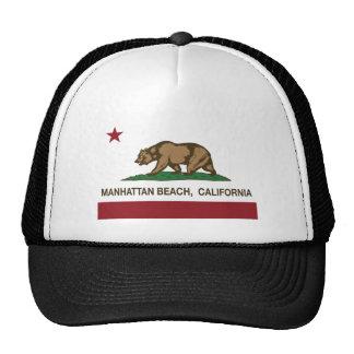 Bandera del estado de Manhattan Beach California Gorros Bordados