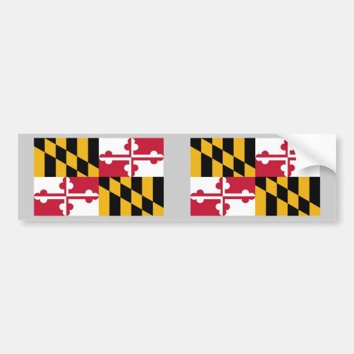 Bandera del estado de Maryland Etiqueta De Parachoque
