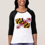 Bandera del estado de Maryland Camisas