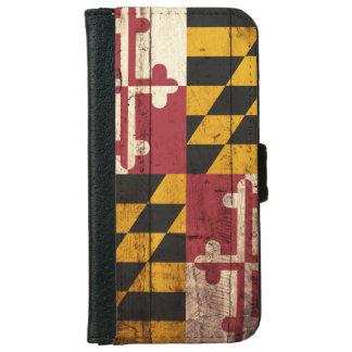 Bandera del estado de Maryland en grano de madera Carcasa De iPhone 6