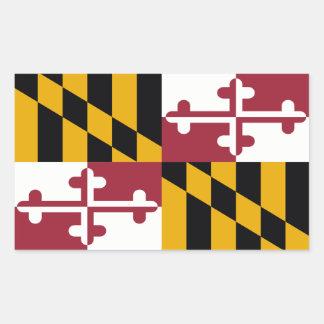 Bandera del estado de Maryland, Estados Unidos Pegatina Rectangular