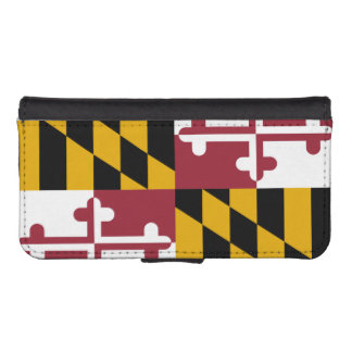 Bandera del estado de Maryland Funda Billetera Para Teléfono