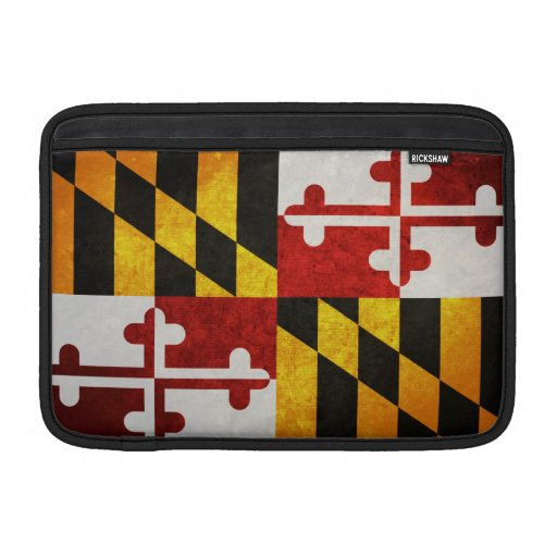 Bandera del estado de Maryland Fundas Para Macbook Air