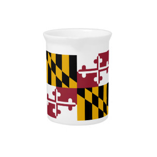 Bandera del estado de Maryland Jarra Para Bebida