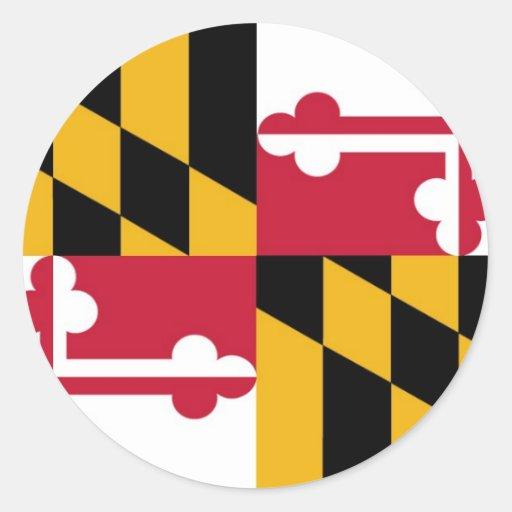 Bandera del estado de Maryland Pegatina