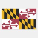 Bandera del estado de Maryland Pegatina Rectangular