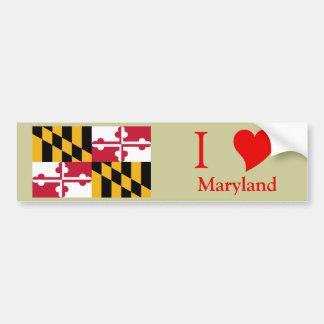 Bandera del estado de Maryland Pegatina Para Auto
