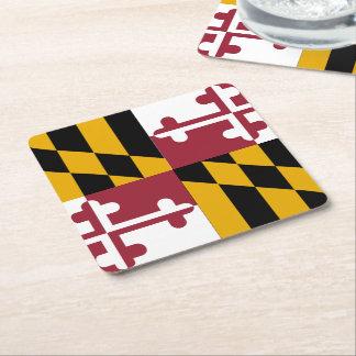 Bandera del estado de Maryland Posavasos Personalizable Cuadrado