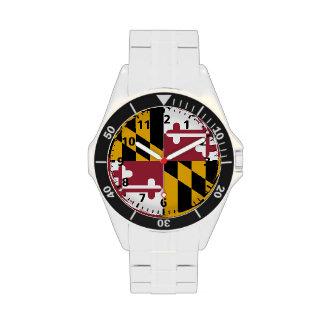 Bandera del estado de Maryland Reloj