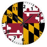 Bandera del estado de Maryland Reloj Redondo Grande