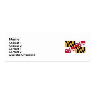 Bandera del estado de Maryland Tarjetas De Visita Mini