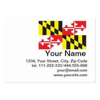 Bandera del estado de Maryland Tarjetas De Visita Grandes