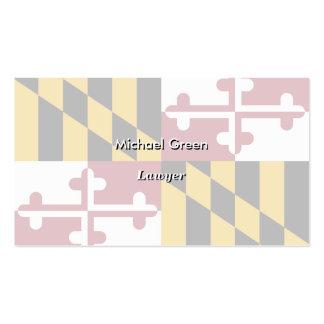 Bandera del estado de Maryland Tarjetas De Visita