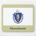 Bandera del estado de Massachusetts Alfombrillas De Ratones