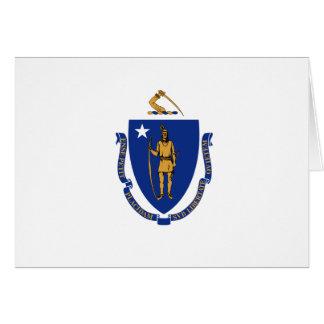 Bandera del estado de Massachusetts Tarjeton
