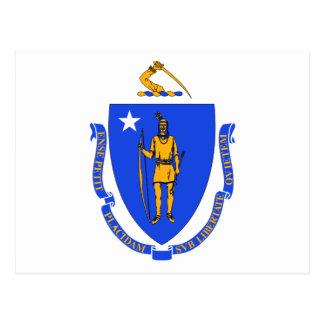 Bandera del estado de Massachusetts Tarjeta Postal