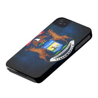 Bandera del estado de Michigan Case-Mate iPhone 4 Cárcasas