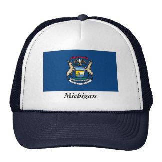 Bandera del estado de Michigan Gorro De Camionero