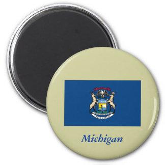 Bandera del estado de Michigan Imán Redondo 5 Cm