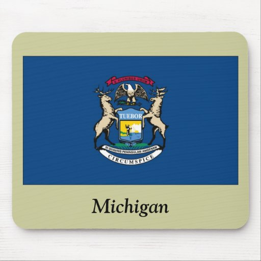 Bandera del estado de Michigan Mouse Pad