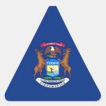Bandera del estado de Michigan Pegatina De Triangulo Personalizadas