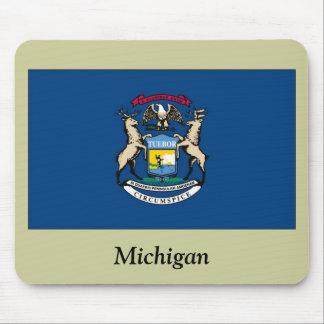 Bandera del estado de Michigan Tapete De Raton