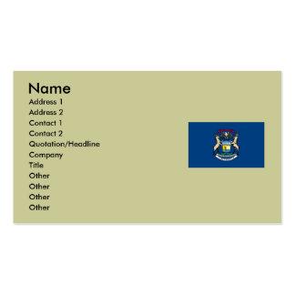 Bandera del estado de Michigan Plantilla De Tarjeta Personal