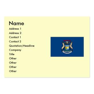 Bandera del estado de Michigan Tarjeta De Visita