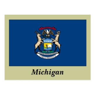 Bandera del estado de Michigan Tarjetas Postales
