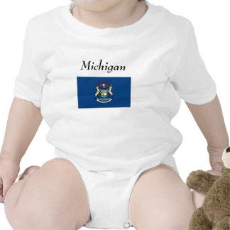 Bandera del estado de Michigan Traje De Bebé