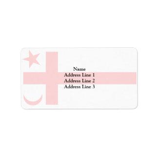 Bandera del estado de Mikmaq Etiqueta De Dirección