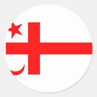 Bandera del estado de Mikmaq Pegatina Redonda