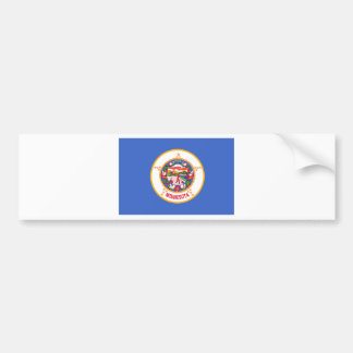 Bandera del estado de Minnesota Pegatina De Parachoque