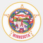 Bandera del estado de Minnesota Pegatinas