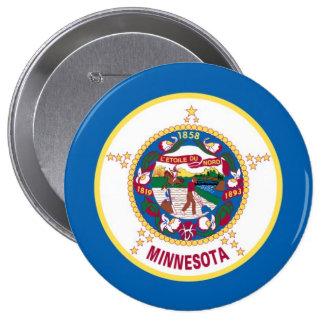 Bandera del estado de Minnesota Pin Redondo De 4 Pulgadas