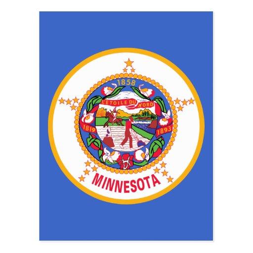 Bandera del estado de Minnesota Postales