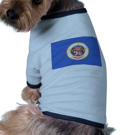 Bandera del estado de Minnesota Camisetas De Perrito