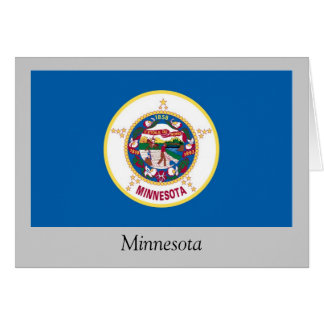 Bandera del estado de Minnesota Tarjeta De Felicitación