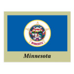 Bandera del estado de Minnesota Tarjeta Postal