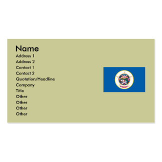 Bandera del estado de Minnesota Tarjetas De Visita