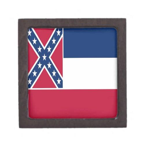 Bandera del estado de Mississippi Caja De Recuerdo De Calidad