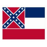 Bandera del estado de Mississippi Postales