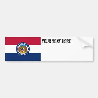 Bandera del estado de Missouri Etiqueta De Parachoque