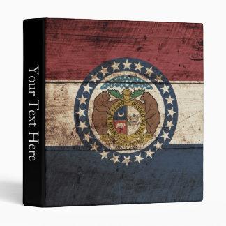 """Bandera del estado de Missouri en grano de madera Carpeta 1"""""""