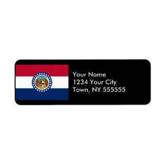 Bandera del estado de Missouri Etiqueta De Remite