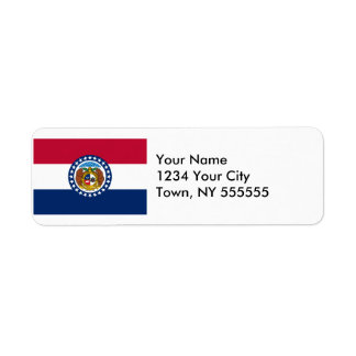 Bandera del estado de Missouri Etiqueta De Remitente