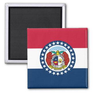 Bandera del estado de Missouri Imán Cuadrado